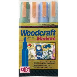 Zig Woodcraft Natural Chisel Tip Markers (Pack of 4)