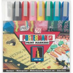 Zig Posterman Fine Tip Markers (Pack of 8)