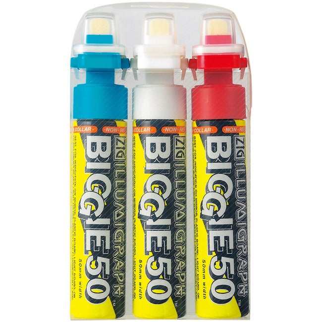 Zig Illumigraph Biggie 50 mm Tip Markers (Pack of 3)