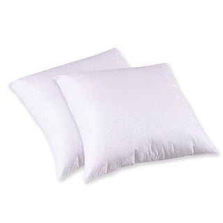 Splendorest 200 Thread Count Cotton Euro Sham Stuffer Pillows (Set of 2)