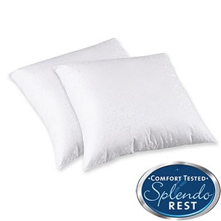 Splendorest 200 Thread Count Cotton 26-inch Euro Square Sham Stuffer Pillows (Set of 2)