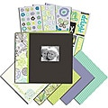 K & Company Black and White 8.5x8.5-inch Mega Scrapbook Kit