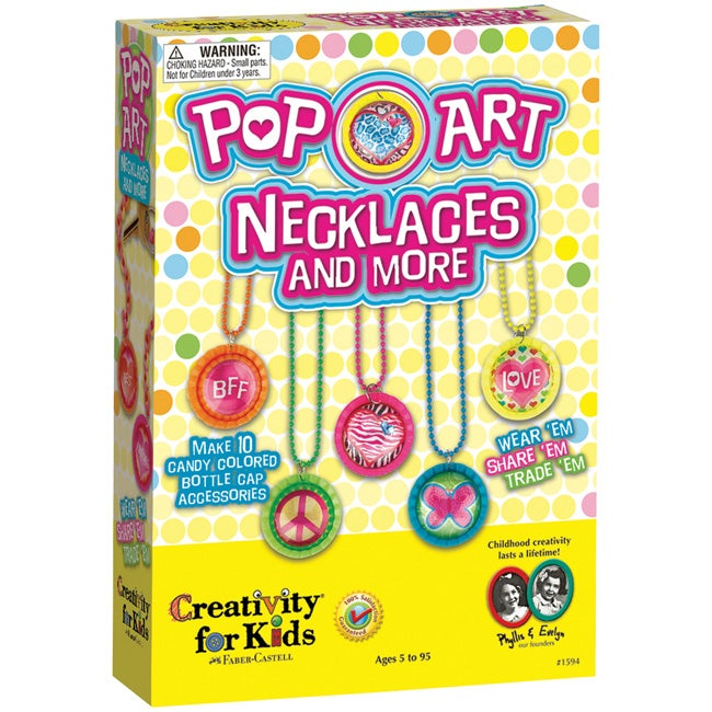 Creativity for Kids Pop Art Necklaces and More Kit