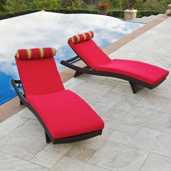 RST Cantina Wave Chaise Lounger and Bolster Pillow Set (Pack of 2)