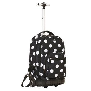 Rockland Black Dot Rolling Laptop Backpack