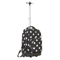 Rockland Black Dot Rolling Laptop Backpack