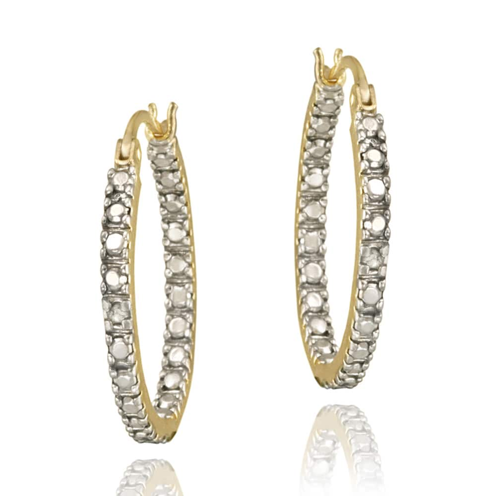 DB Designs 18k Gold over Sterling Silver Diamond Accent Hoop Earrings at Sears.com