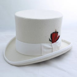 Ferrecci Men's Elegant Off White Top Hat