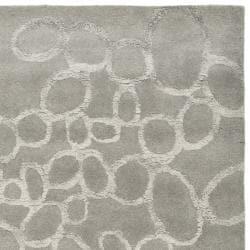Handmade Soho Loops Grey New Zealand Wool Rug (7'6 x 9'6)