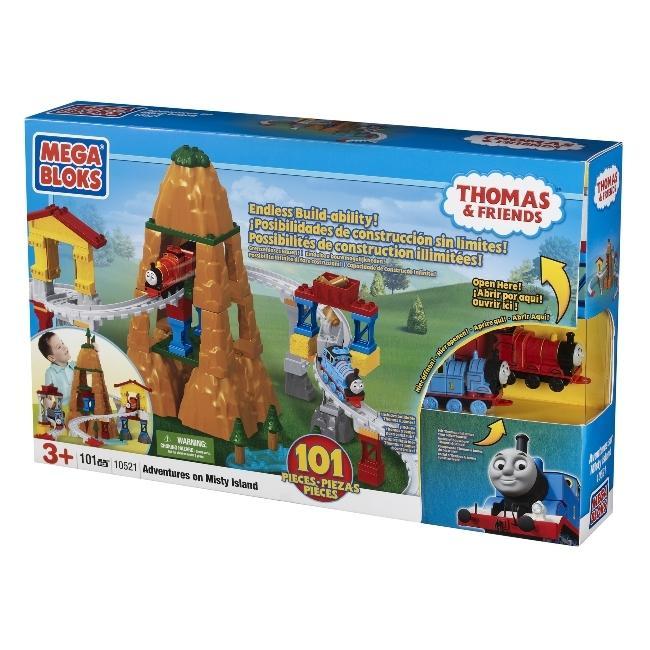 Mega Bloks Thomas Adventure on Misty Island Construction Playset