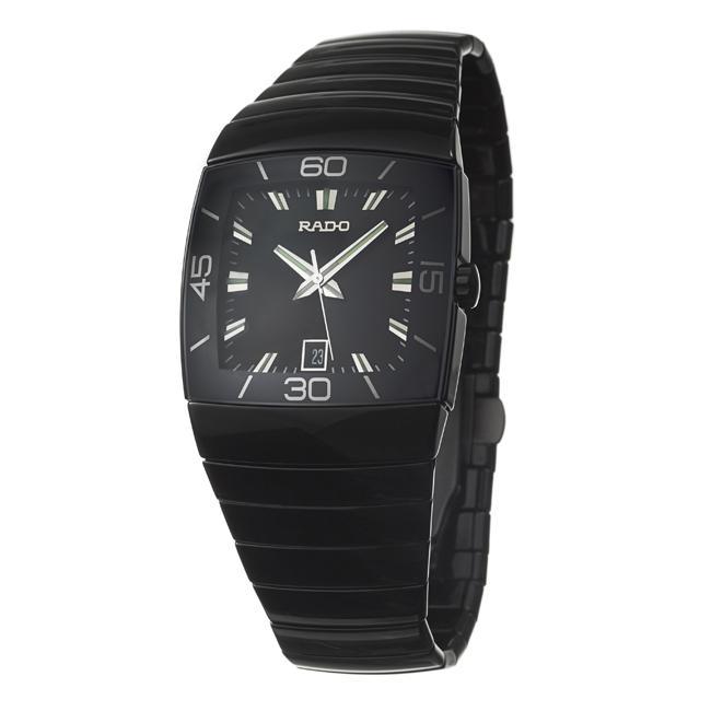 Rado Men's 'Sintra' Black Ceramic Date Quartz Watch