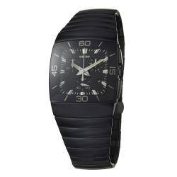 Rado Men's 'Sintra' Black Ceramic Chronograph Quartz Watch