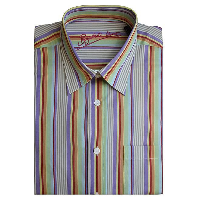 Bugatchi Uomo Men's Long-sleeve Multistripe Button-front Shirt