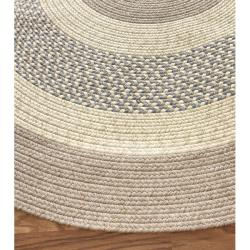 Handmade Alexa Reversible Braided Blue Cottage Rug (7'6 x 9'6 Oval)