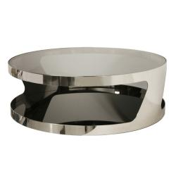 Genesis Steel and Tinted Glass Modern Coffee Table