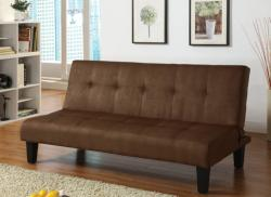 Dalin Adjustable Chocolate Microfiber Futon Sofa