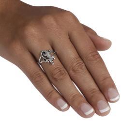 Journee Sterling Silver Alligator Ring