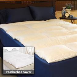 Horizontal Channel Supportive Featherbed/ Cover Set