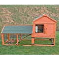 Rabbit Hutch with Outdoor Run and Wheels
