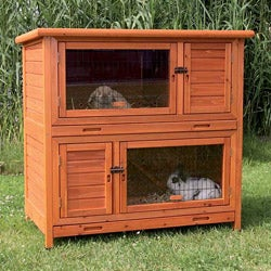 2-in1 Rabbit Hutch with Insulation