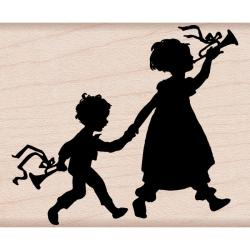Hero Arts 'Musical Walk' Wood-mounted Rubber Stamp