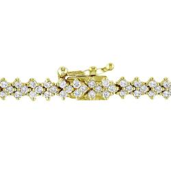 Miadora 10k Yellow Gold 2 1/3ct TDW Diamond Bracelet (G-H, SI1-SI2)