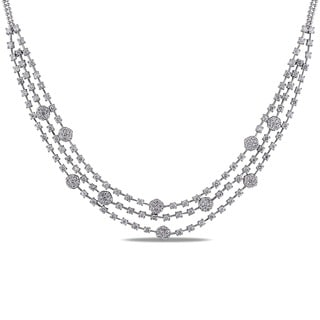 Miadora 14k White Gold 5 3/8ct TDW Diamond Necklace (G-H, SI1-SI2)