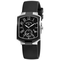 Philip Stein Women's Classic Black Rubber Strap Watch