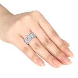 Miadora 14k White Gold 4 5/8ct TDW Diamond Fashion Band (G-H, SI1-SI2)