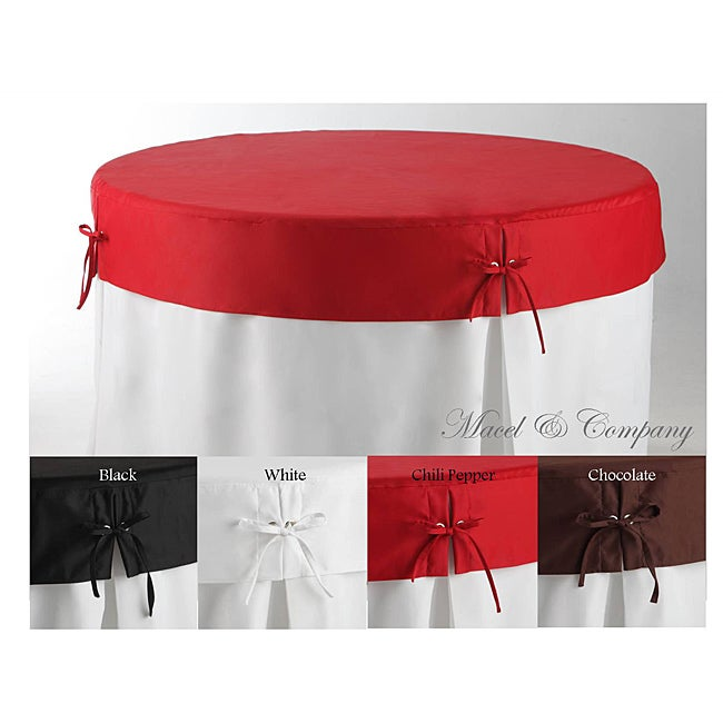 Betty Topper 72-inch Round Fitted Tablecloth