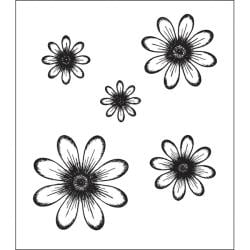 Heartfelt Creations Daisy Patch Flowers Rubber Stamps