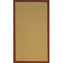 Herat Oriental Asian Hand-woven Beige/ Brown Sisal Natural Fiber Rug (2'6 x 4')