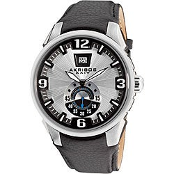 Akribos XXIV Men's Water-Resistant Quartz Big Date Bold Strap Watch