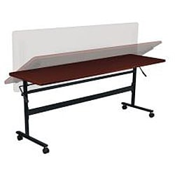 Economy Steel Flipper Table with Wood Grain Finish (72