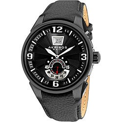 Akribos XXIV Men's Quartz Big Date Bold Strap Watch