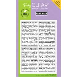 Hero Arts 4x6-inch 'Dictionary Greeting' Clear Stamps Sheet