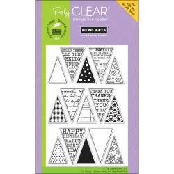 Hero Arts 4x6-inch 'Friendly Flags' Clear Stamps Sheet