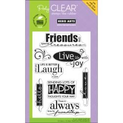 Hero Arts 4x6-inch 'Live Life' Clear Stamps Sheet