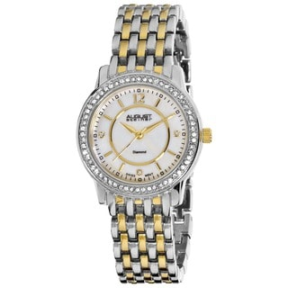 August Steiner Women's Dazzling Diamond Bracelet Watch with Mother-of-Pearl Dial