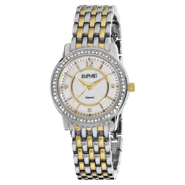 August Steiner Women's Dazzling Diamond Two-Tone Bracelet Watch with Dial 8247195