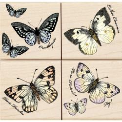 Hero Arts Papillons Mounted Rubber Stamp Set
