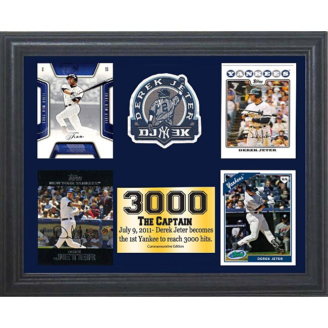 New York Yankees Derek Jeter 3000 Hit 4 11x14 Commemorative Card Frame