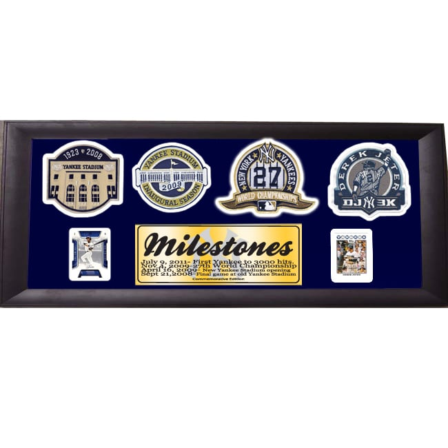 New York Yankees Derek Jeter 3000 Hits 12x24 Panoramic Commemorative Patch Frame