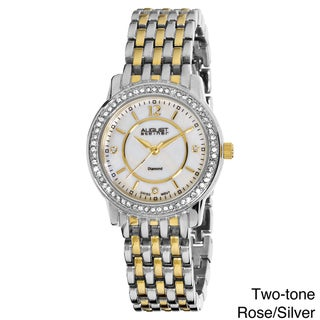 August Steiner Women's Dazzling Diamond Swiss Quartz Bracelet Watch