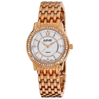 August Steiner Women's Water-Resistant Dazzling Diamond Bracelet Watch