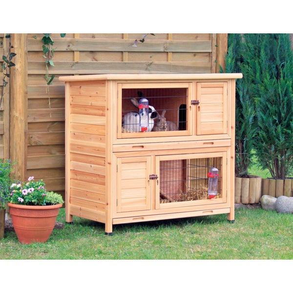 Trixie 2-Story Rabbit Hutch (M)