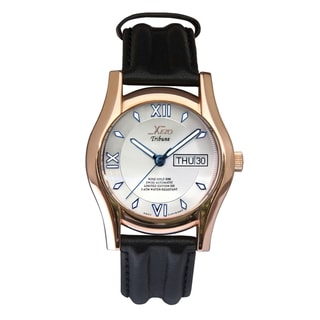 Xezo Men's Rose Gold Overlay Swiss Automatic Watch