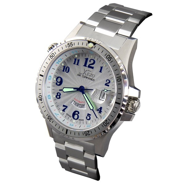 Xezo men 39 s air commando d44 s swiss automatic watch 13768824 shopping big for Xezo watches