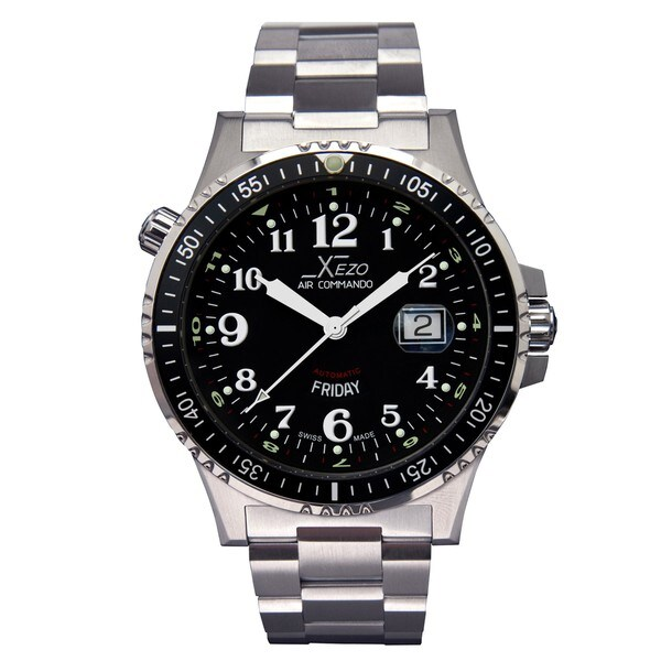 Xezo Men's Air Commando D44 Swiss Automatic Watch
