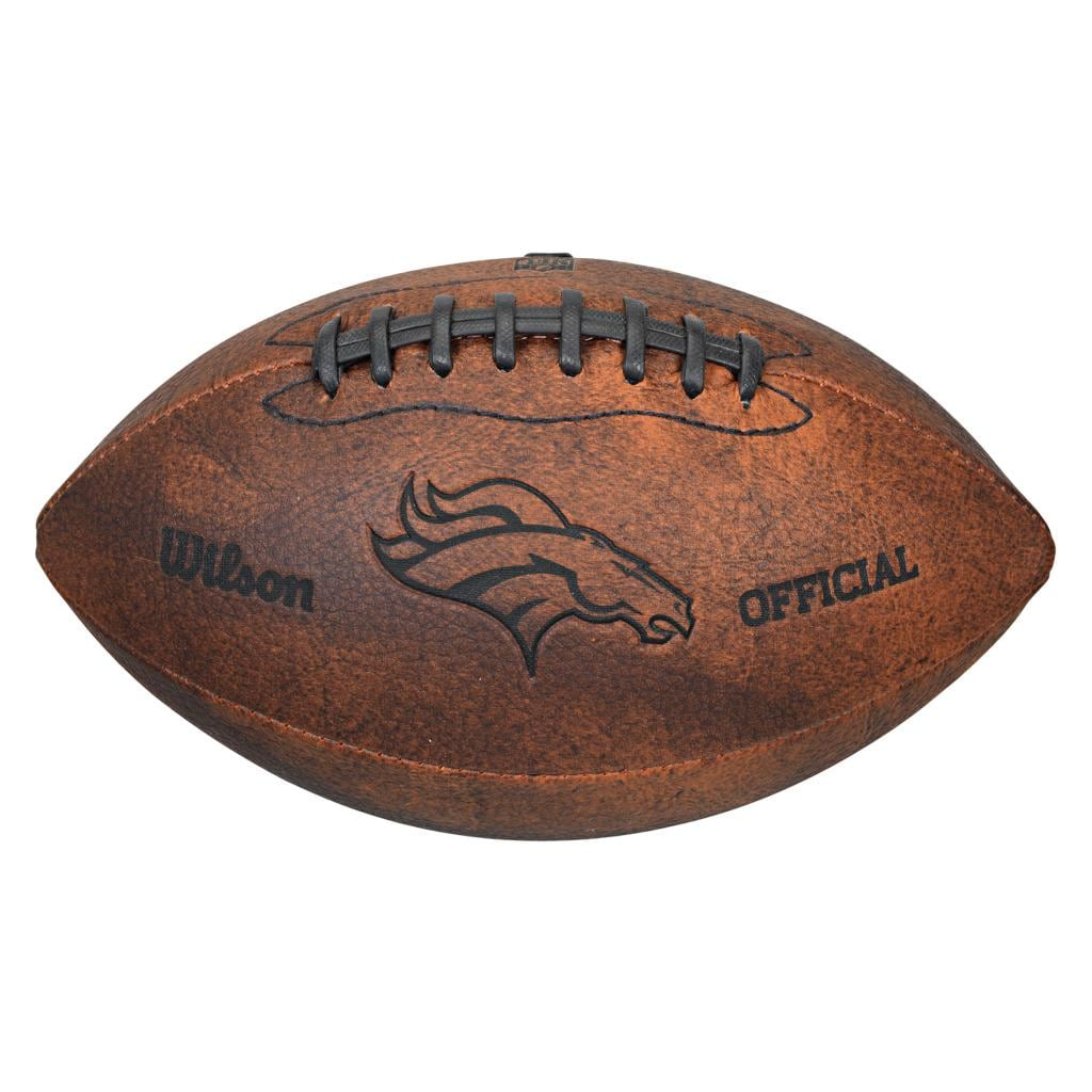 Wilson nfl denver broncos 9 inch composite leather football free shipping on orders over 45